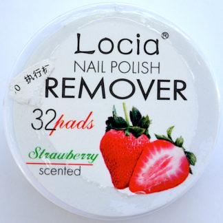 Салфетки для снятия лака фирмы Locia с ароматом клубники