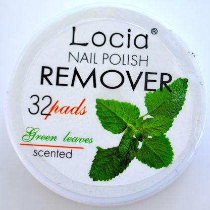 Салфетки для снятия лака фирмы Locia с ароматом зеленых листьев