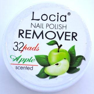 Салфетки для снятия лака фирмы Locia с ароматом яблока