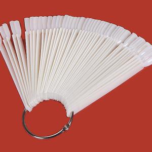 Дисплей для лаков веер на кольце (белый) на 50 цветов