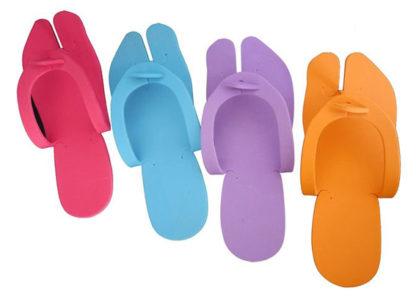 Одноразовые тапочки для педикюра (фиолетовые)