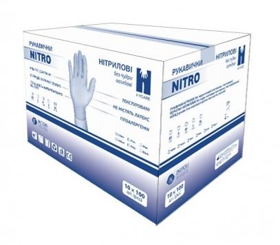 Перчатки нитриловые Nitro (размер: XL) 100 шт.