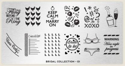 Пластина для стемпинга MoYou London (Bridal Collection-01)