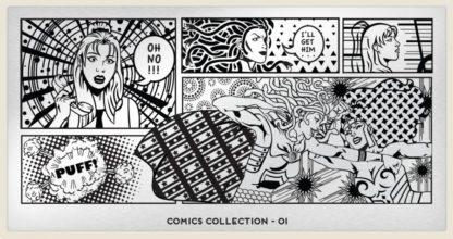 Пластина для стемпинга MoYou London (Comics Collection-01)