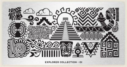 Пластина для стемпинга MoYou London (Explorer Collection-01)