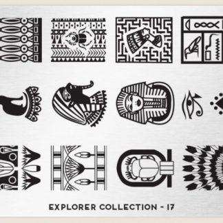 Пластина для стемпинга MoYou London (Explorer Collection-17)
