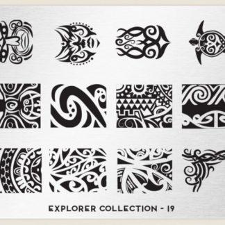 Пластина для стемпинга MoYou London (Explorer Collection-19)