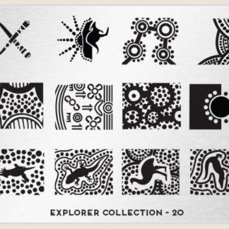 Пластина для стемпинга MoYou London (Explorer Collection-20)
