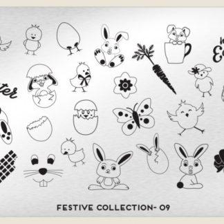 Пластина для стемпинга MoYou London (Festive Collection-09)