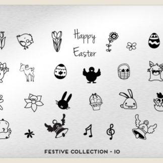 Пластина для стемпинга MoYou London (Festive Collection-10)