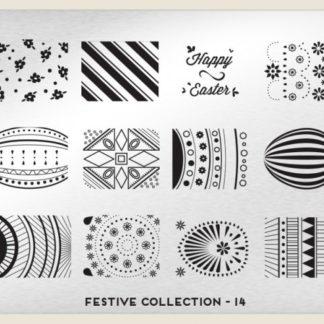 Пластина для стемпинга MoYou London (Festive Collection-14)