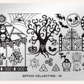 Пластина для стемпинга MoYou London (Gothic Collection-01)