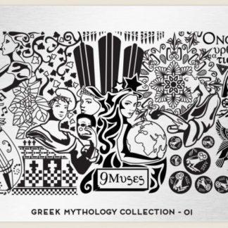 Пластина для стемпинга MoYou London (Greek Mythology Collection-01)