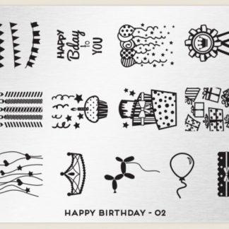 Пластина для стемпинга MoYou London (Happy Birthday-02)