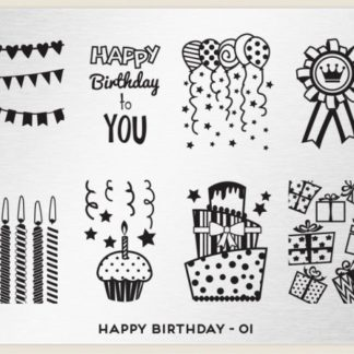 Пластина для стемпинга MoYou London (Happy Birthday-01)