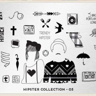 Пластина для стемпинга MoYou London (Hipster Collection-03)