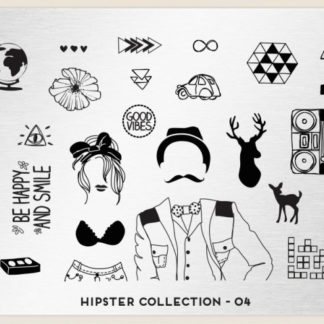 Пластина для стемпинга MoYou London (Hipster Collection-04)