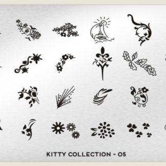 Пластина для стемпинга MoYou London (Kitty Collection-05)