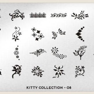 Пластина для стемпинга MoYou London (Kitty Collection-08)