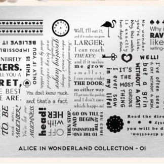 Пластина для стемпинга MoYou London (Alice Collection-01)