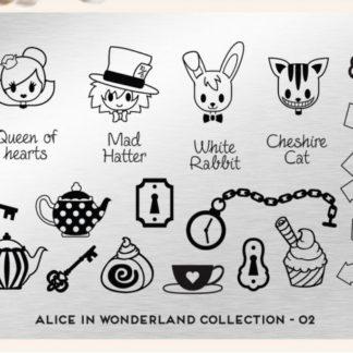 Пластина для стемпинга MoYou London (Alice Collection-02)