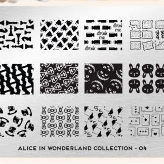 Пластина для стемпинга MoYou London (Alice Collection-04)