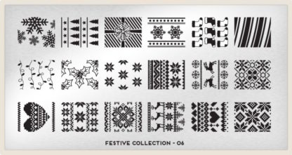 Пластина для стемпинга MoYou London (Festive Collection-06)