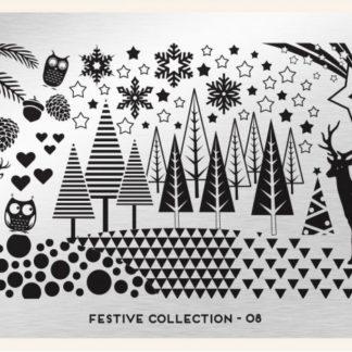 Пластина для стемпинга MoYou London (Festive Collection-08)