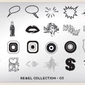 Пластина для стемпинга MoYou London (Rebel Collection-03)