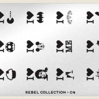 Пластина для стемпинга MoYou London (Rebel Collection-04)