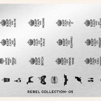 Пластина для стемпинга MoYou London (Rebel Collection-05)