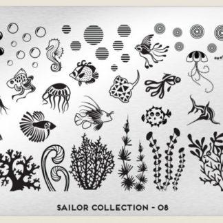Пластина для стемпинга MoYou London (Sailor Collection-08)