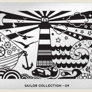 Пластина для стемпинга MoYou London (Sailor Collection-09)