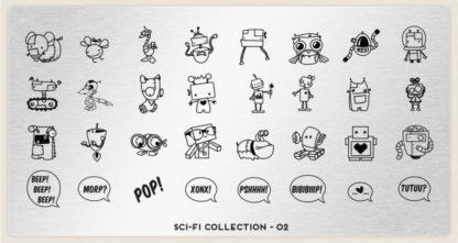 Пластина для стемпинга MoYou London (Sci-Fi Collection-02)