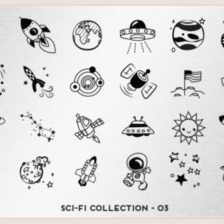 Пластина для стемпинга MoYou London (Sci-Fi Collection-03)