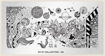 Пластина для стемпинга MoYou London (Sci-Fi Collection-04)