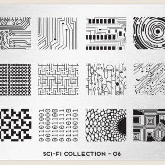 Пластина для стемпинга MoYou London (Sci-Fi Collection-06)