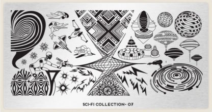 Пластина для стемпинга MoYou London (Sci-Fi Collection-07)