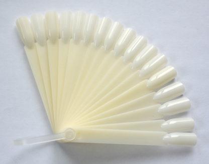 Дисплей (палитра) для демонстрации лаков на оси, на 20 цветов, короткий, белый