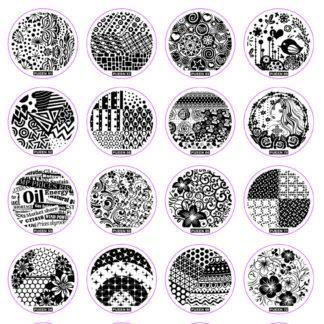 Набор PUEEN USA (24В): 24 диска для стемпинга