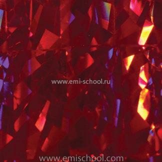 Голографическая фольга E.MI «Красная»