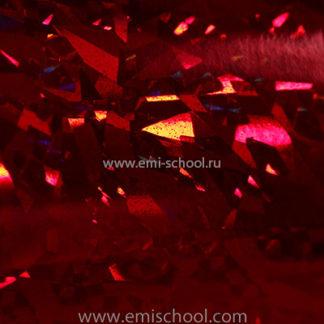 Голографическая фольга E.MI красная №1 «Кристаллы»