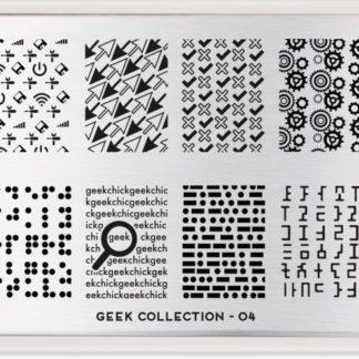 Пластина для стемпинга MoYou London Geek Plate Collection-04