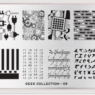 Пластина для стемпинга MoYou London Geek Plate Collection-05