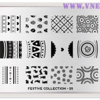 Пластина для стемпинга MoYou London Festive Collection-25