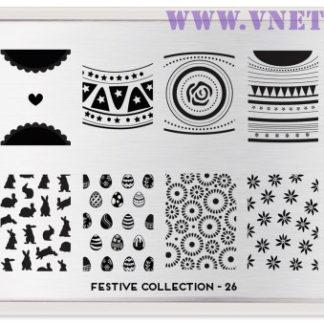 Пластина для стемпинга MoYou London Festive Collection-26