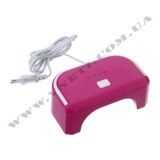 Led лампа nail 12W ТР36 темно-розовая
