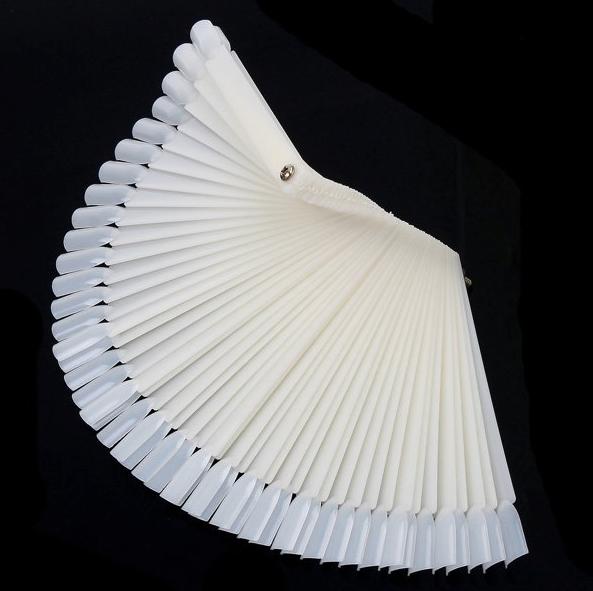 Матовая веерная палитра для лаков на оси или кольце