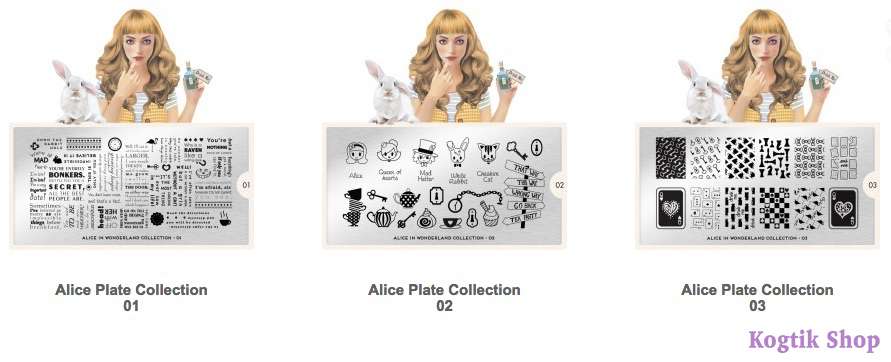 Alice Stamping Plate Collection MoYou London 01 02 03