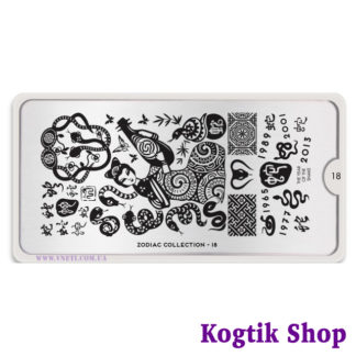 Пластина для стемпинга MoYou London Zodiac Collection-18